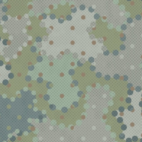 Teal Dots | In The Round Collection | Studio 37 Fabrics