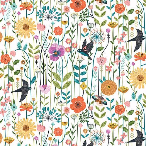 Meadow Birds on White | Aviary Collection | Dashwood Studio