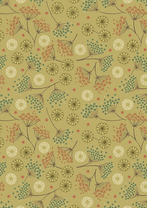 Winter Floral on Green | New Forest Winter Collection | Lewis and Irene