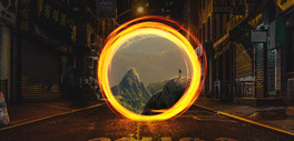 Portal In City
