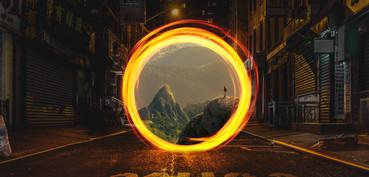 Portal to mountains