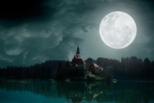 Bled Castle At Night Photo Manipulation