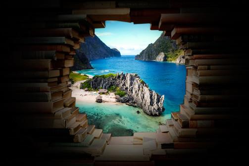Tropical island through books