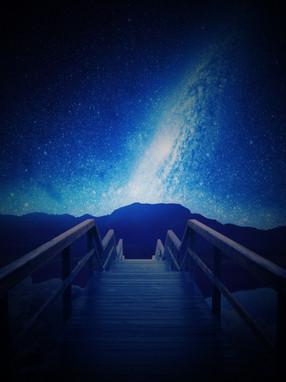 Galaxy Behind Mountains
