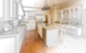 Beautiful Custom Kitchen Design Drawing and Gradated Photo Combination..jpg
