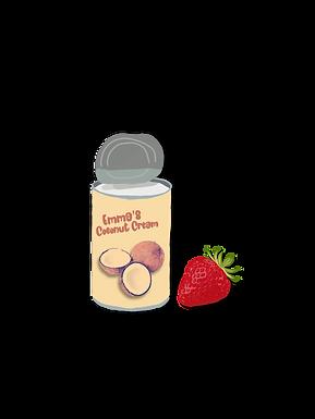 Strawberries & Coconut Crema