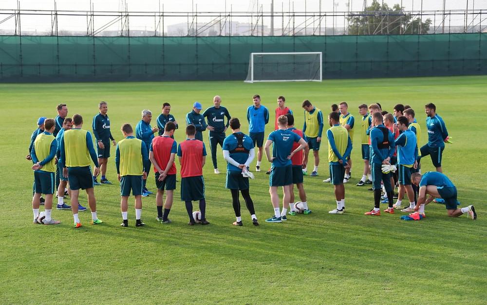тренировочные сборы в Дубае: 19 января, вечерняя тренировка.