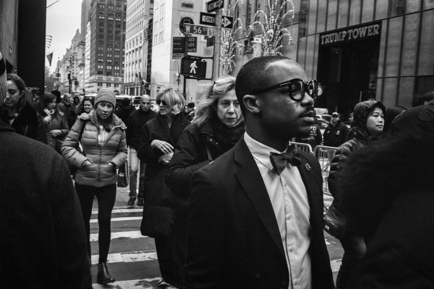 Man of Bow Tie (Front of Trump Tower)