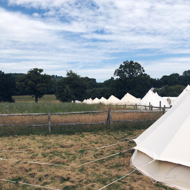 festival wedding bell tent hire surrey g