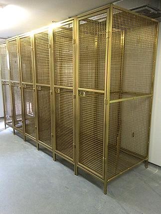 Assure Build bespoke mesh lockers gold.j