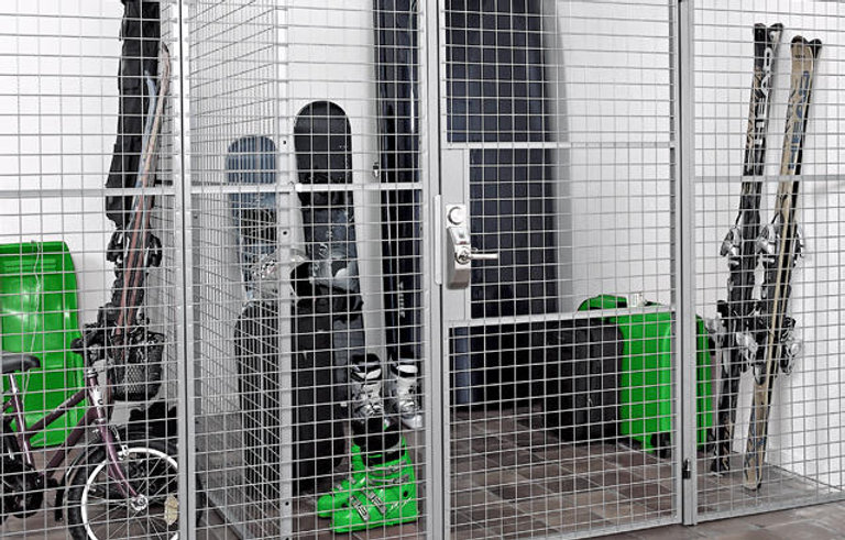 assure build steel mesh cage storage ins