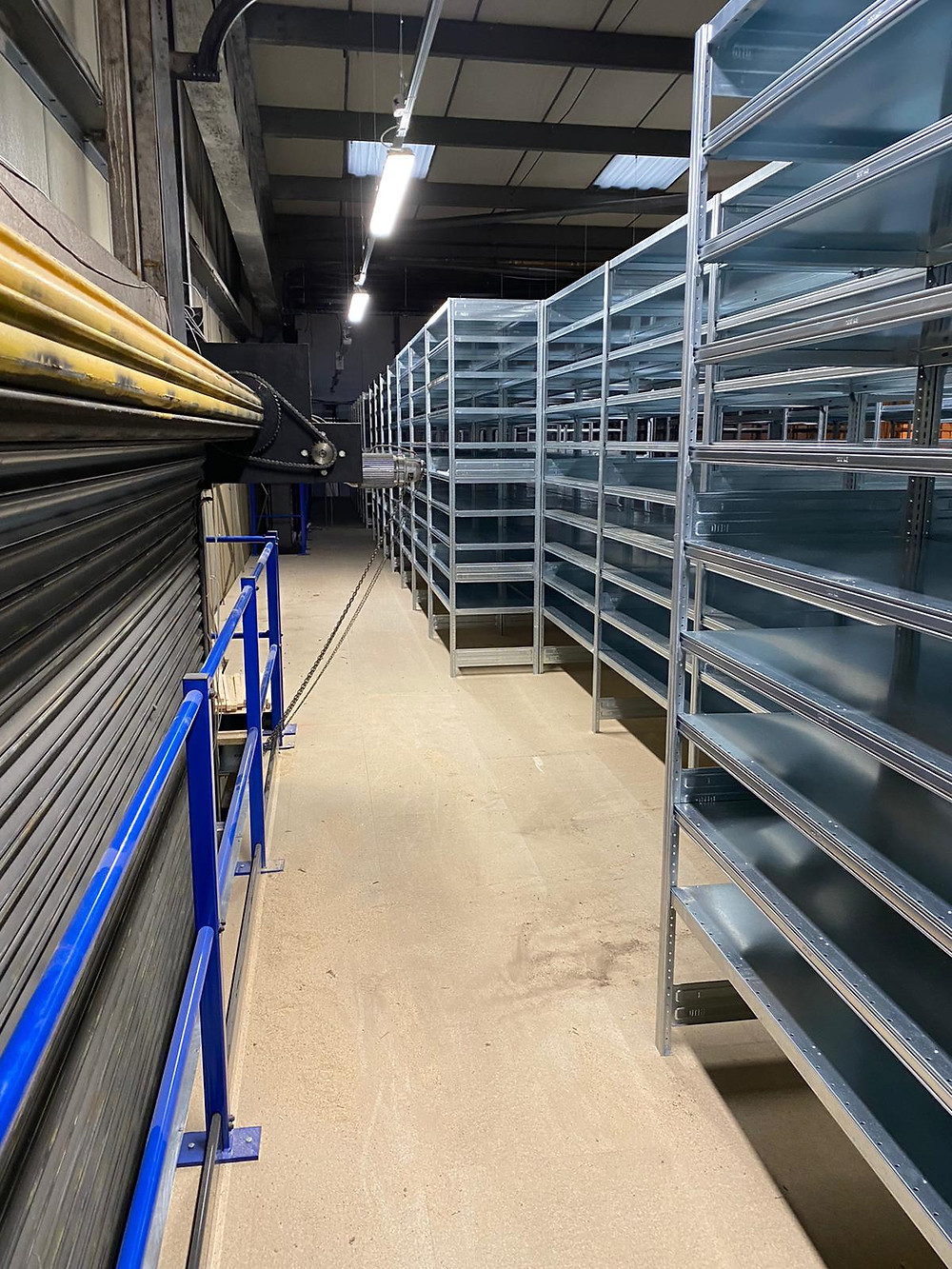 BITO shelving on a mezzanine