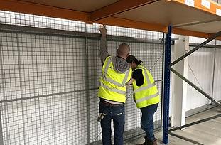 assure build steel mesh cage installatio