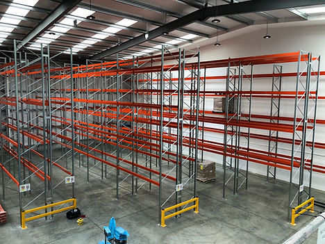 Pallet racking with barriers.jpg