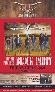 Cowboy Jacks Block Party Poster 2021 120