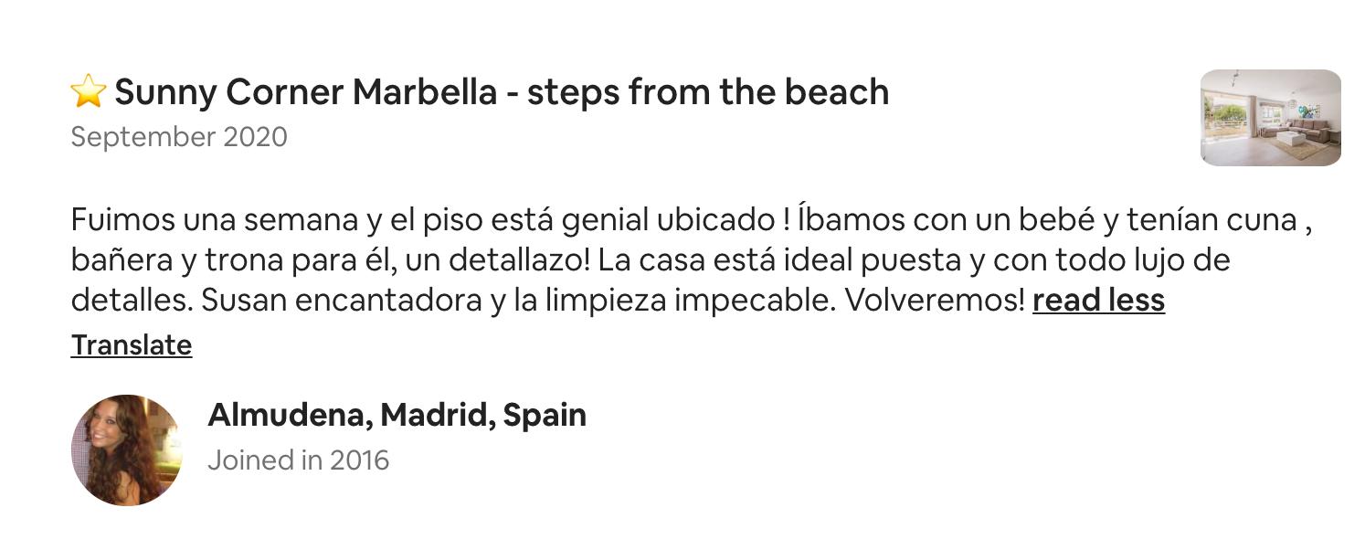 Airbnb best marbella apartment