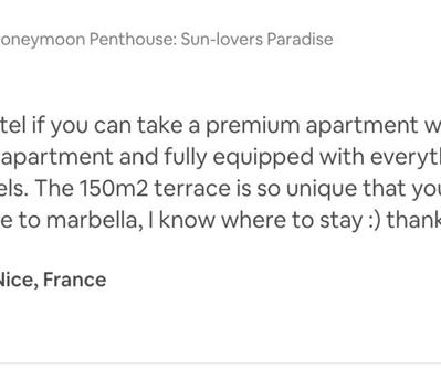 Honeymoon Penthouse better than 5 star hotel