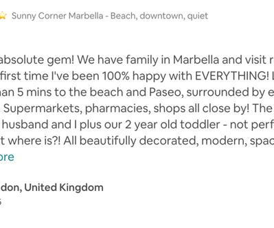 #sunnycornermarbella family beach apartment