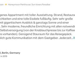 Honeymoon Penthouse Meerblick