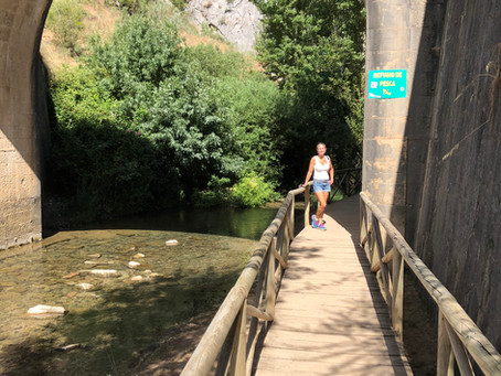 Wild river swimming in Andalucia