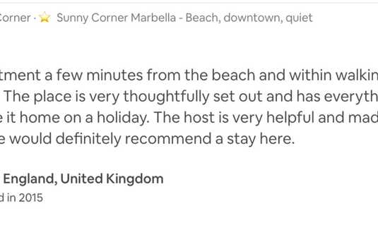 #sunnycornermarbella walk to beach and old town