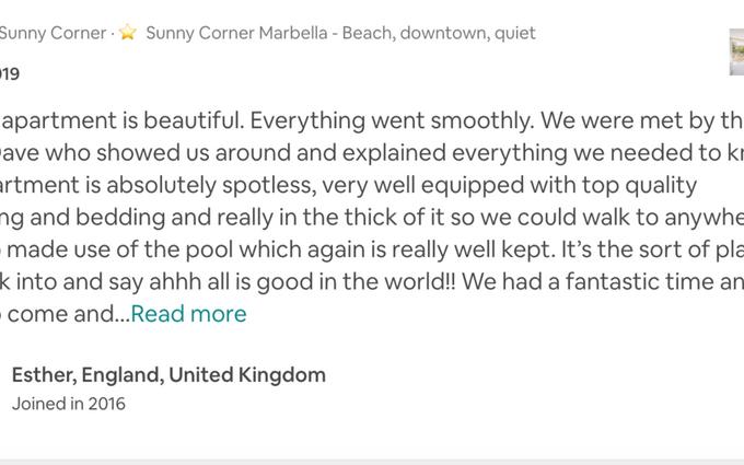 #sunnycornermarbella where to stay near the beach