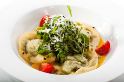 Ravioli with Cheese and Spinach and with Pumpkin Cream.jpg