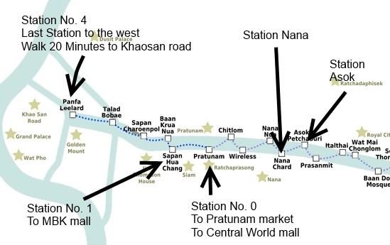 how to get around Bangkok map