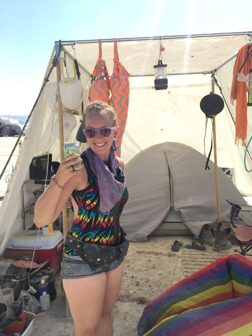 burning man shade tent