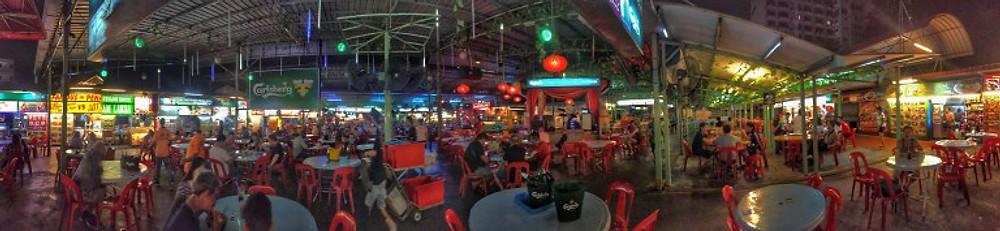 red garden food stalls