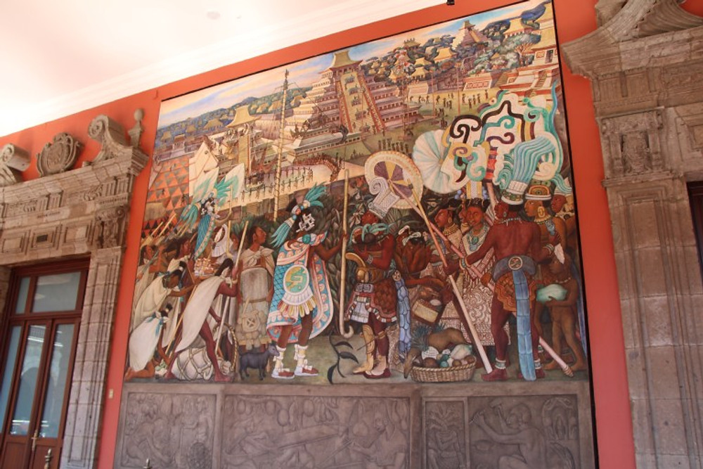 Art at the central palace.