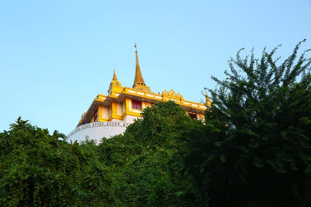 The Golden Mount Temple and Wat Saket in Bangkok, Thailand