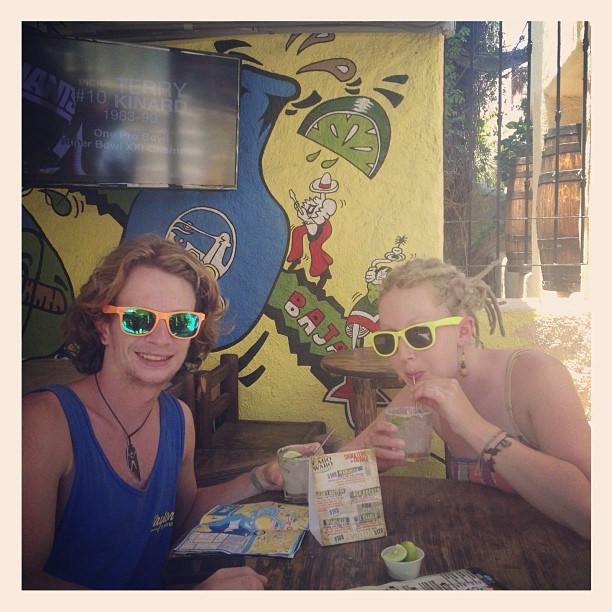 "Drinking margaritas at Sammy Hagar's world famous ""Cabo Wabo"" bar. cabo road trio"