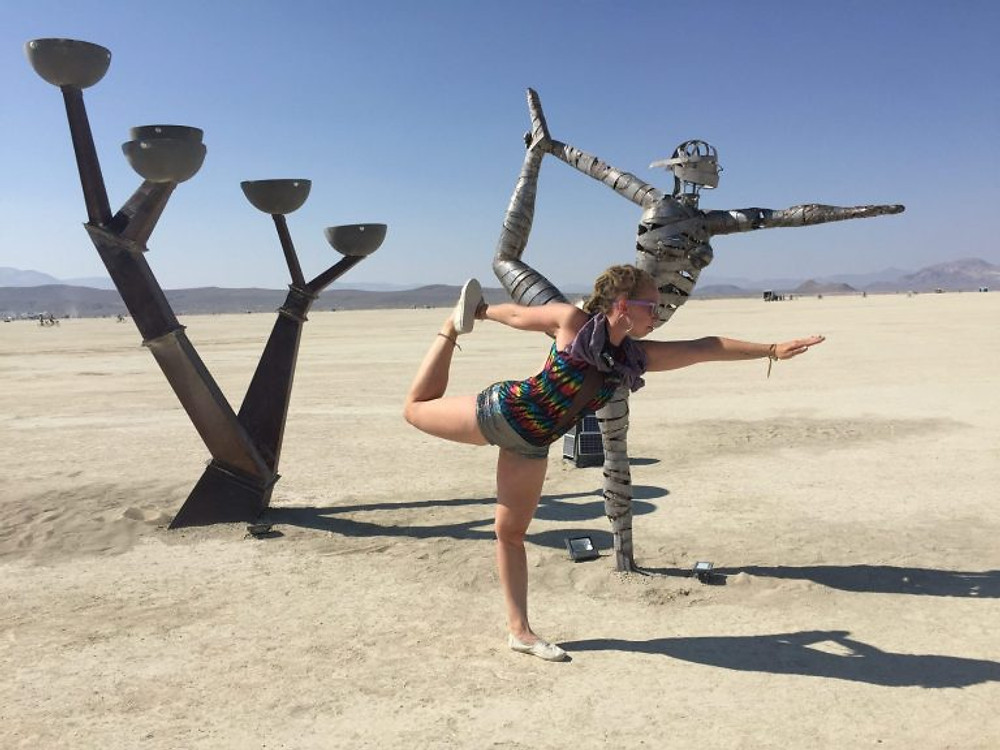 Burning man 2018 yoga dancer
