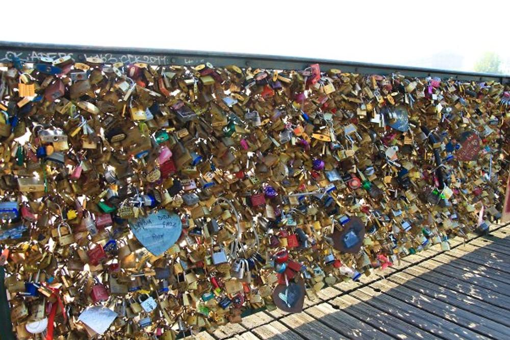 Bridge of love locks.