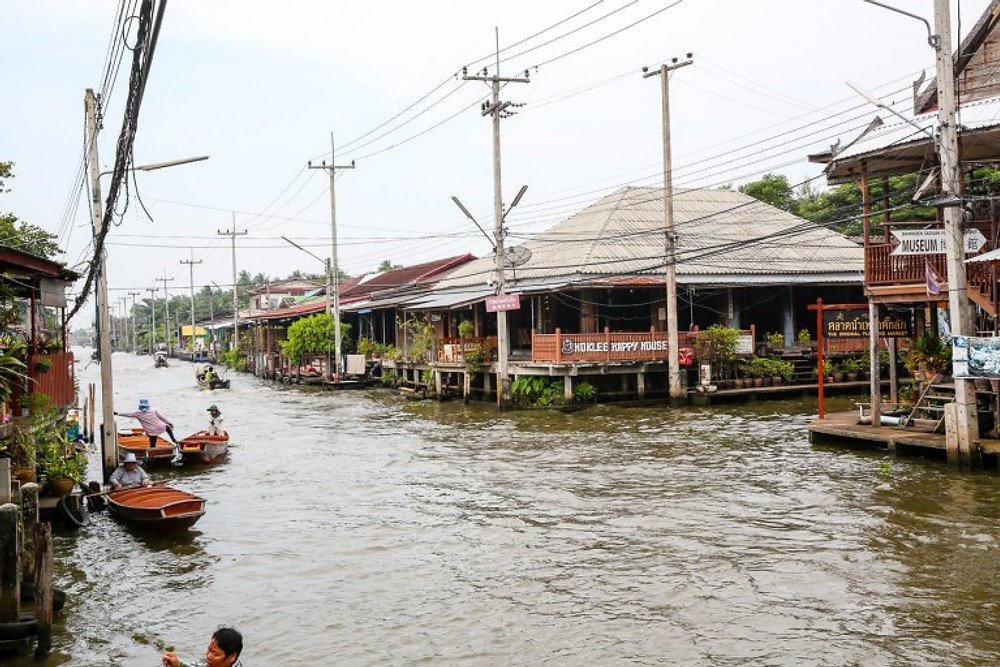 The Floating Market in Damnoen Saduak