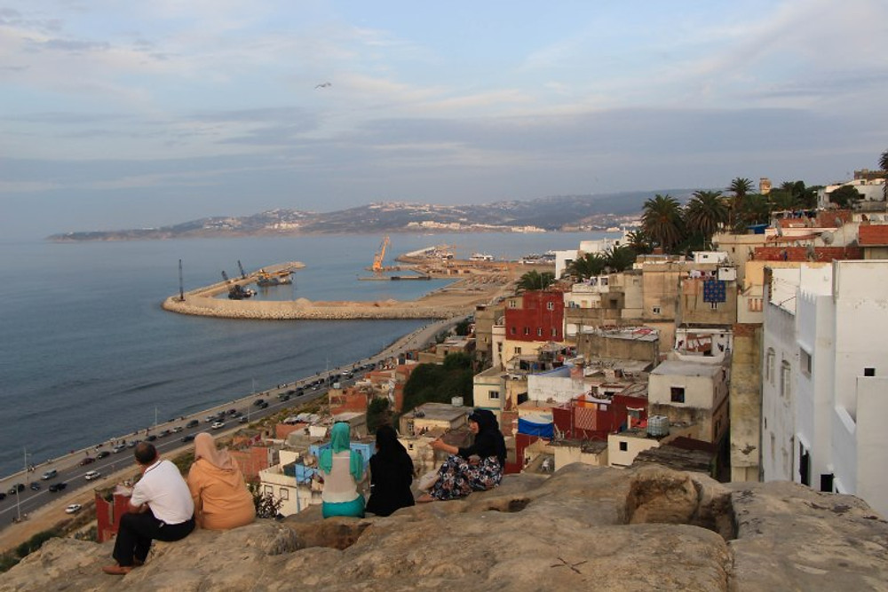 Looking over the Mediterranean from Tangier