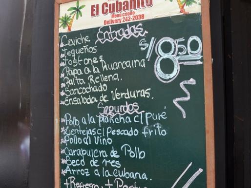 Restaurant El Cubanito in Miraflores, Lima, Perú