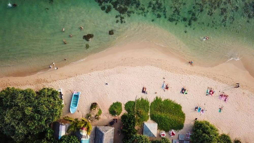 Mediha Beach Sri lanka from the sky