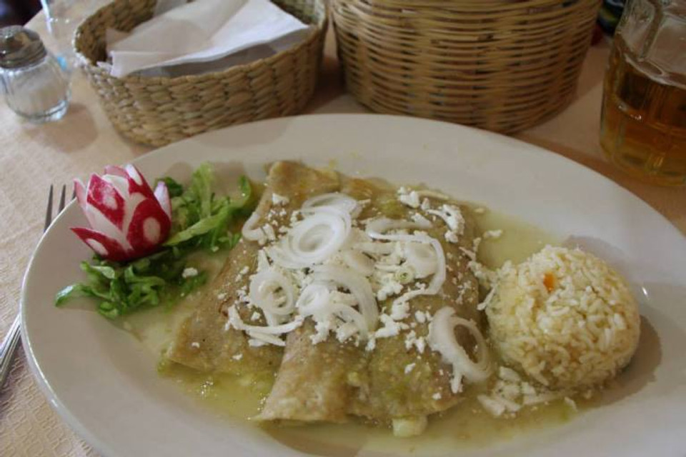Mmmmm enchiladas! Teotihuacan