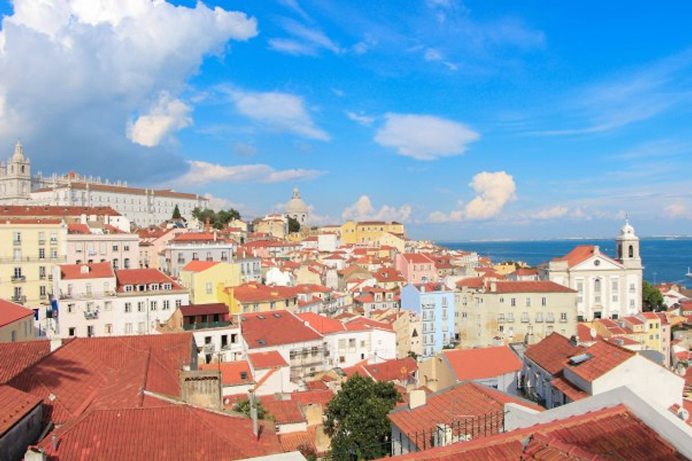View from the top of the Alfama