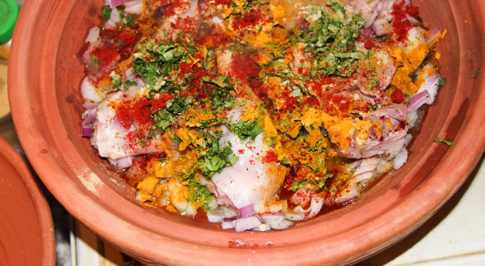 Delicious tajine...sorry for the bad picture!