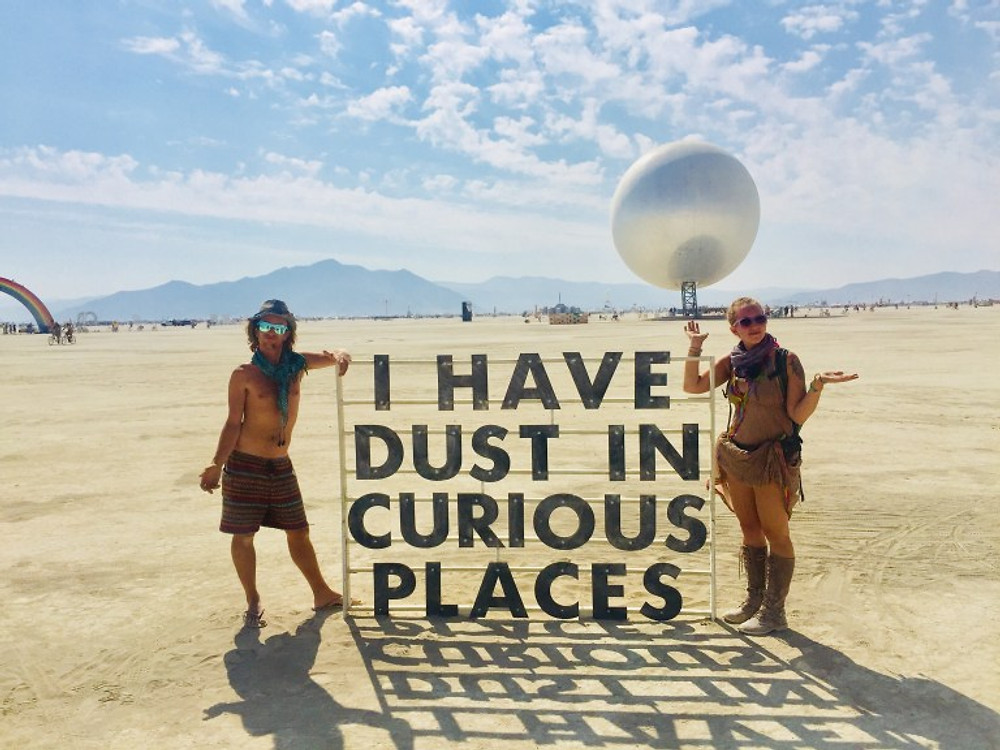 dust in curious places burning man