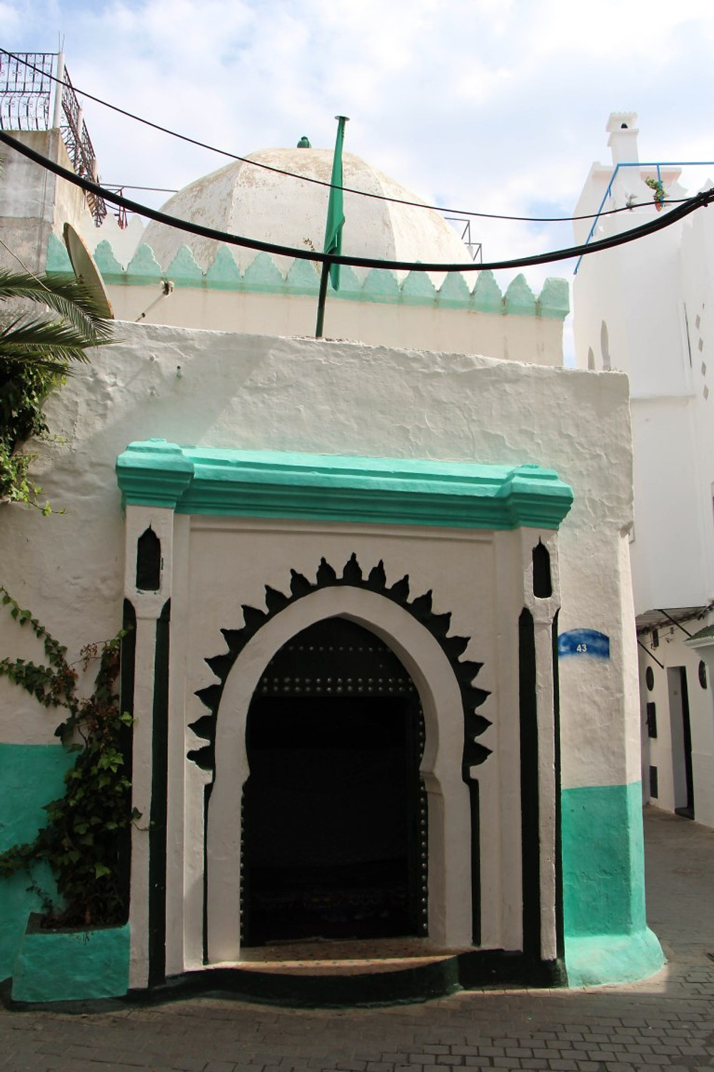 """Classic Islamic architecture in the Tangier's """"Kasbah""""- castle"""