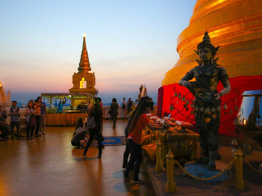 The Golden Mount and Wat Saket in Bangkok, Thailand