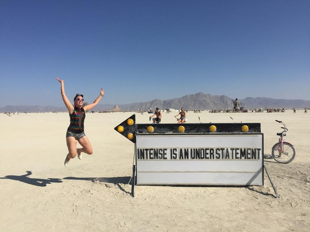 Burning Man 2018 intense sign