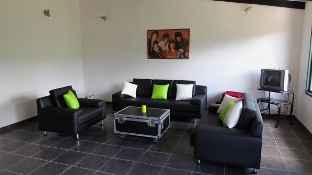 "Living room in the ""Luxus-Bungalow"""