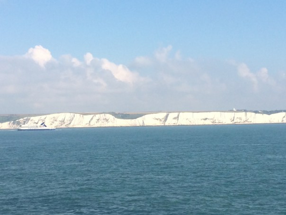 Dover from the ferry