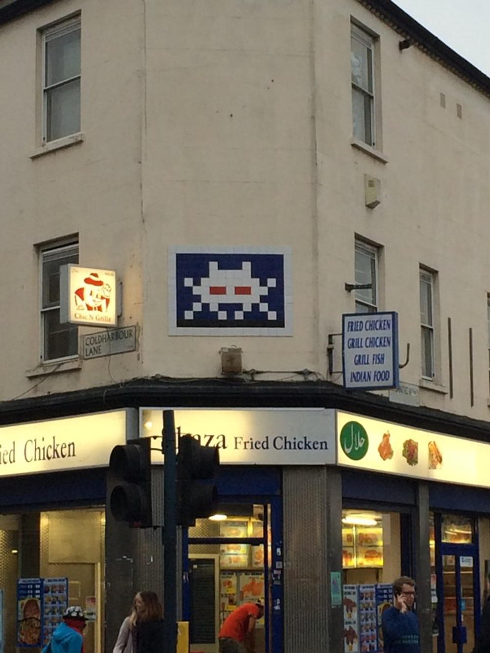 Space Invader tag in London