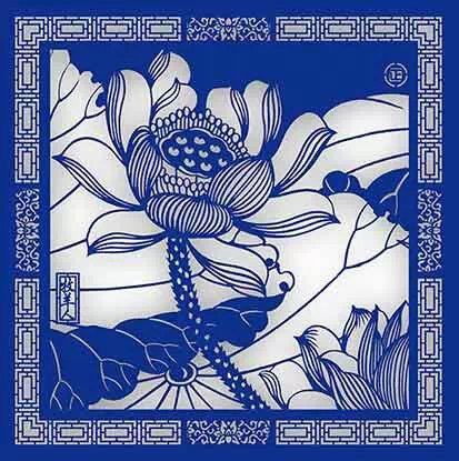 Chinese Paper-cutting_ Lotus